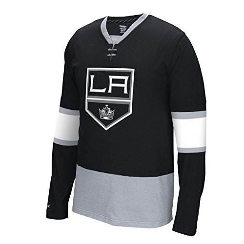 "Los Angeles Kings Reebok NHL ""Face Off"" Long Sleeve Jersey Maglia Shirt Camicia"
