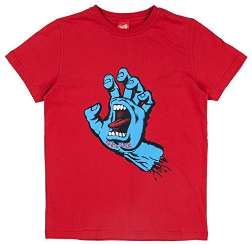 Santa Cruz Deep Rot Screaming Hand Kinder T-Shirt (10-12 Jahre Alt, Rot) (Screaming Hand Von Santa Cruz)