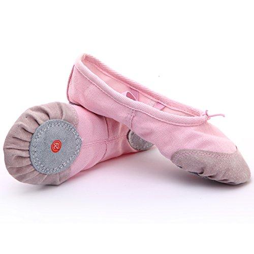 Wuyulunbi@ Scarpe da ballo Kungfu Soft scarpe con suole di scarpe da ballo Rosa