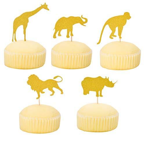 Morepack Animal Cupcake Topper und Wrapper für Party, Kuchen, Dekoration, Geburtstag Party und Baby Show (30 Stück)