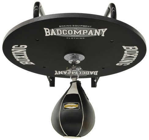 Profi Speedball Plattform Set inkl. Drehkugellagerung schwarz und Leder Boxbirne medium schwarz / Boxapparat für die Wandmontage Test