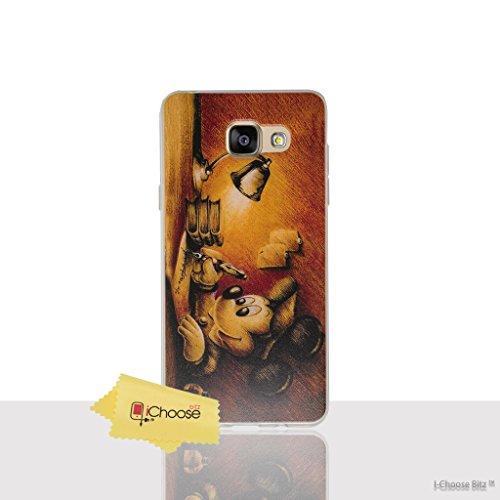 Disney Citation Étui/Coque de Téléphone pour Samsung Galaxy A3 2016 / Silicone Doux Gel/TPU / iCHOOSE / Esquisser