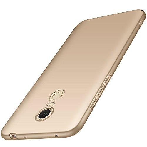 anccer Funda Xiaomi Redmi 5 Plus [Serie Colorida] [Ultra-Delgado] [Ligera] Anti-rasguños Estuche para Carcasa Xiaomi Redmi 5 Plus (Oro Liso)