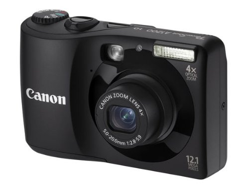 Canon PowerShot A1200 Digitalkamera (12,1 Megapixel, 4-fach opt, Zoom, 6,9 cm (2,7 Zoll) Display) schwarz