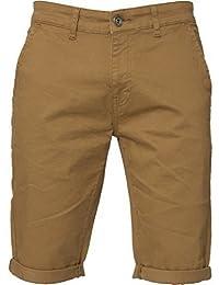 ENZO Hommes Slim Fit Coton Extensible Chino Short été noir bleu rouge gris, neuf avec étiquette