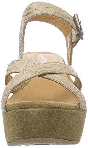 Sofie Schnoor Croco Plateau, Sandales  Bout ouvert femme Beige - Taupe