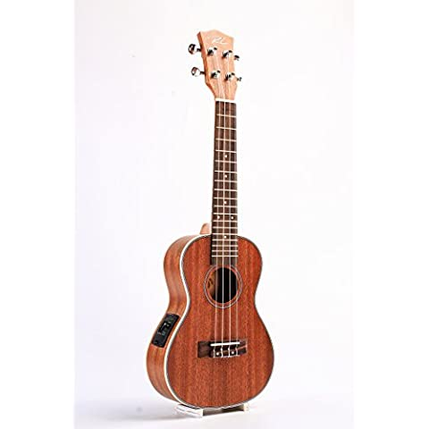 21 Soprano Spruce Ukulele Ukelele 42mm Slim Design High Gloss Surface Mahogany Fingerboard Nylon String Delicate Tuning Peg by RL