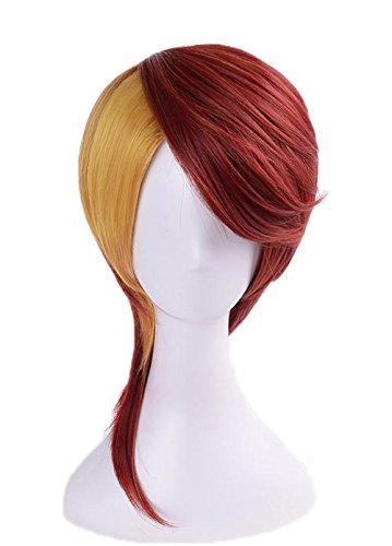 Mesky Anime Damen Perücke Damen Wig Land of The Lustrous Rutile Cosplay Kostüm Zubehör für Party, Karneval und Fasching Mädchen Haarteil mit kostenlosem Haarnetz Leich Bequem ()