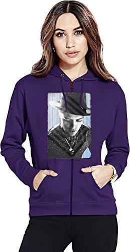Bruno Mars Portrait Womens Zipper Hoodie Small (Unorthodox Jukebox-vinyl)