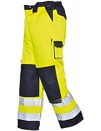PORTWEST TX51 Mens Texo Hi-Vis Work Trousers Yellow/Navy TX51YN-RXL