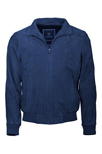 Hochwertiger Blouson aus Ziegenvelours von Milestone in blau Navy
