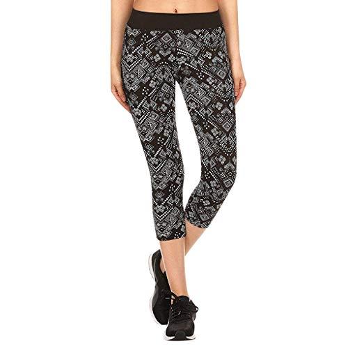 AIni Damen Yoga Hosen 2019 Neuer Beiläufiges Mode Yoga Enge Durchte Hose Yoga Hosen Leggings Fitness Trainieren Abgeschnittene Hosen Yoga Leggings Sport Fitness Hosen Trainingshose (XL,Schwarz)