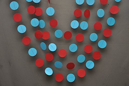 Aqua rot Girlande-Party Dekorationen-Papier Girlande-Geburtstag Dekorationen-Kinderzimmer-Kreise Girlande ()