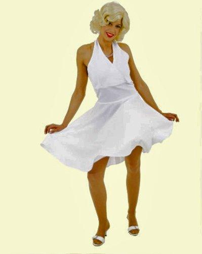 d a la Marylin Monroe, weiß, Größen 36 - 54, Erwachsenen-Größe:36 (Filmstar-kostüme Für Erwachsene)
