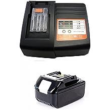 Power Wings batería de repuesto para Makita BL 1840batería 4,0Ah + Cargador para Makita DC18RA DC18RC 3A para BL1830BL1840BL1850. BL1430BL1415Ion de litio