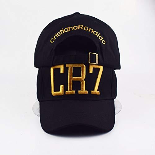 TTXSKX Estilo De Moda Cristiano Ronaldo Cr7 3D Gorras De Béisbol del Bordado Hip Hop Gorras De Algodón Ajustable Snapback Sombreros