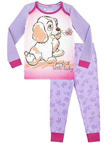 Disney Pijama niñas Lady and the Tramp Ajuste Ceñido