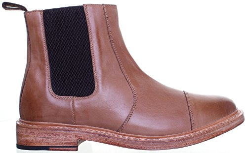 Reece Justin Dylan renforcées en cuir GoodYear mat pour chaussures Marron - Camel JL25