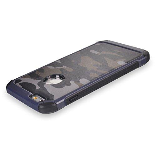 UKDANDANWEI Camo Series Hülle,Super Schild Hohe Gel Silikon Haut Slim Fit Zurück Schale Abdecken Schutzhülle Case Cover für iPhone 6S Plus / 6 Plus - Rosa Blau
