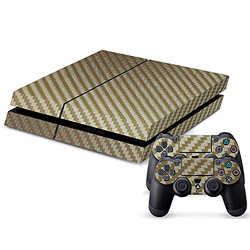 Price comparison product image WELLDRESSED PS4 Skin Chrome Gold and Custom Vinyl HD Sticker For Sony Plsaystation4 Console and Controller Skin PS4 Accessory, NO.6