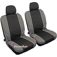 Par de fundas para asientos de coche de la parte delantera, color negro y gris, de la marca XtremeAuto