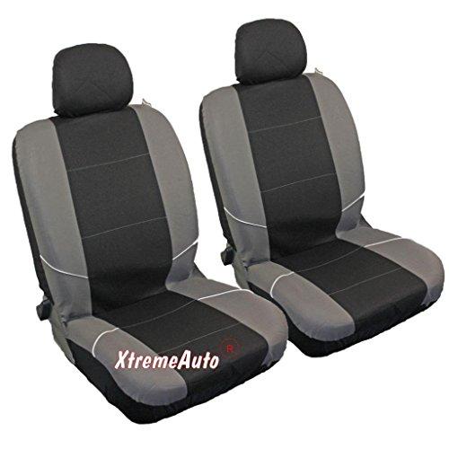 Preisvergleich Produktbild Xtremeauto® Auto-Sitzbezüge,  universelle Passform,  für Vordersitze,  1 Paar,  Schwarz,  Grau