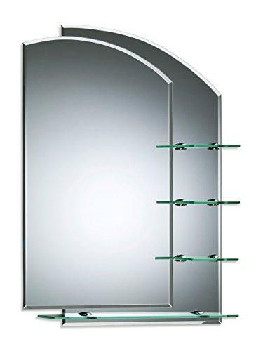 Badezimmerspiegel mit Ablagen - Atemberaubendes nautisches Design ~ wandmontiert 60cm X 43cm