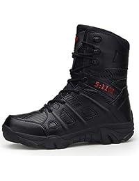 Zapatillas de Hombre de BaZhaHei Botas Militares y cómodas Botas Zapatos de  Hombre Antideslizantes Resistentes al 9a3e5ee7141