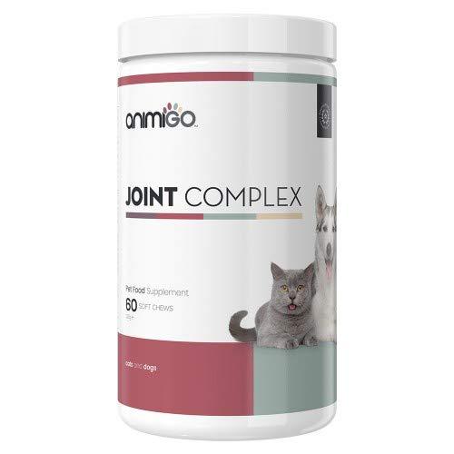 Animigo Complejo para Las Articulaciones. 60 Comprimidos Masticables para Gatos y Perros