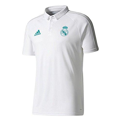 adidas Polo de Real Madrid, Hombre, Blanco, M