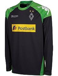 Kappa Trikot Bmg Goalkeeper Long Sleeve - Camiseta de portero de fútbol para niño, color acero, talla 6 años (116 cm)