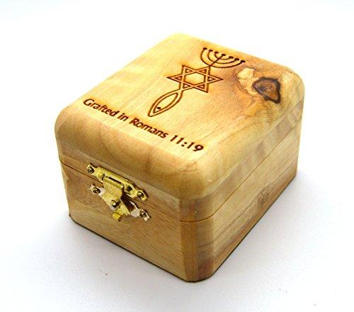 Handgeschnitzten Heiligen Land Olivenholz Rosenkranz Jewelry Box von Bethlehem Gifts TM Messianic Sign - Der Kunst Der Rosenkranz In