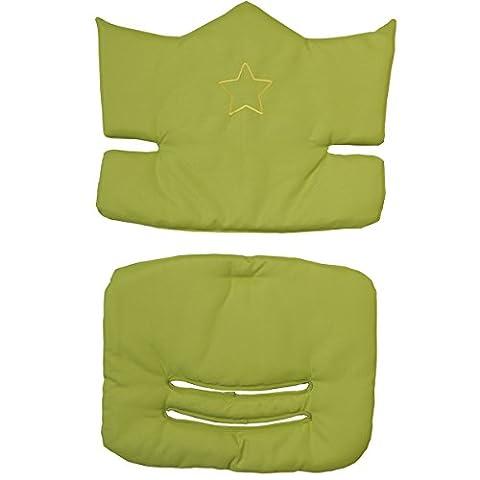 Sitzverkleinerer grün 2 teilig für Hochstühle wasserabweisend • Baby Mit Stern Hoch Stuhl Sitz Kissen Auflage Grün Sterne