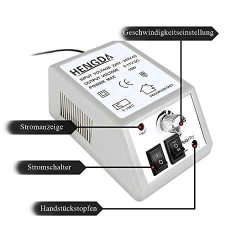 12W Nagelstudio Nägel 20000 RPM stufenlose Einstellung gesetzt Werkzeug Maniküre 230 V Pediküre elektrische Nagel