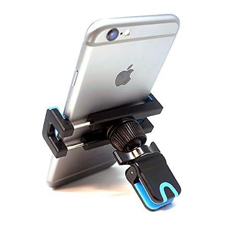 BrainWizz® 360 Air Vent - Support Téléphone Voiture Auto Universel Grille d'Aération / Ventilation pour iPhone 5S/ iPhone 6S / iPhone 6 / iPhone 6S Plus / iPhone 6 Plus / Samsung Galaxy S7 et autres