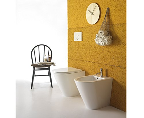 Preisvergleich Produktbild Sanitär Draht Wand Keramik Globo forty3Multi WC Bidet Sitz fissaggioghost