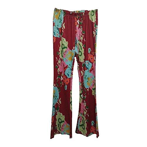 Femme Bootcut Pantalon Flares Pantalon Haute Wasit Marlène Pantalon Fleurs Imprimer Élégant Pantalon Occasionnel Festive Soirée Porter Partywear Juleya Couleur 10