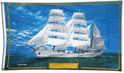Flagge Gorch Fock Schiff - 90 x 150 cm (Schiffe Für Flagge)