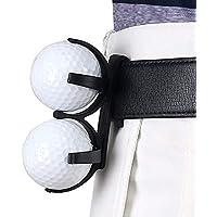 Calistouk Soporte para Pelota de Golf Clip Giratorio Plegable Golf Clip Doble Accesorios de Golf