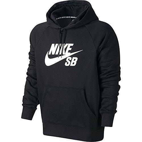 Nike Herren Sweatshirt Sb Icon Kapuzensweatshirt, Black/White, S (Nike Herren Sb)