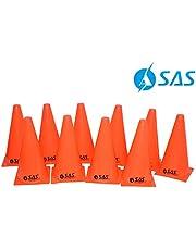 SAS SPORTS Agility Training Marker Cones - Orange (Set of 10)