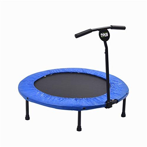 YIOY 40 Zoll Fitness-Trampolin mit Verstellbarem T-Griff Im Außenbereich Sechseck Mini-Trampolin Für Kinder/Erwachsene
