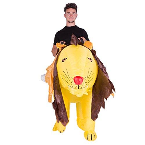 Imagen de disfraz de león gato safari hinchable para adultos alternativa