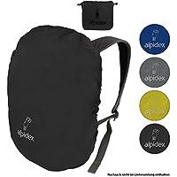 ALPIDEX Cubierta lluvia para mochila NO RAIN Fundas impermeables de distintos tamaños y colores, para mochilas de todas las marcas, con cordón de tope y bolsa de almacenamiento integrada, Color:black, volumen in l:6 - 15 litro