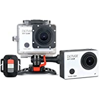Denver Full HD Actioncam (12 Megapixel, WiFi, 5,1 cm (2,0 Zoll) Display, CMOS Sensor, USB) inkl. wasserdichtem Gehäuse bis 55 m