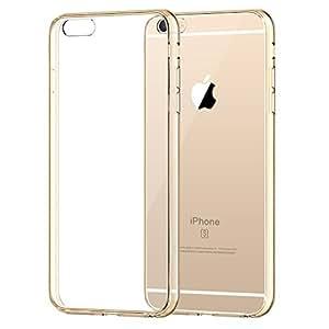 iPhone 6s Custodia, JETech Apple iPhone 6/6s Case Cover Custodia Shock-Absorption Bumper e Anti-Scratch Clear Back per iPhone 6 4.7 Inch (Oro) - 3196