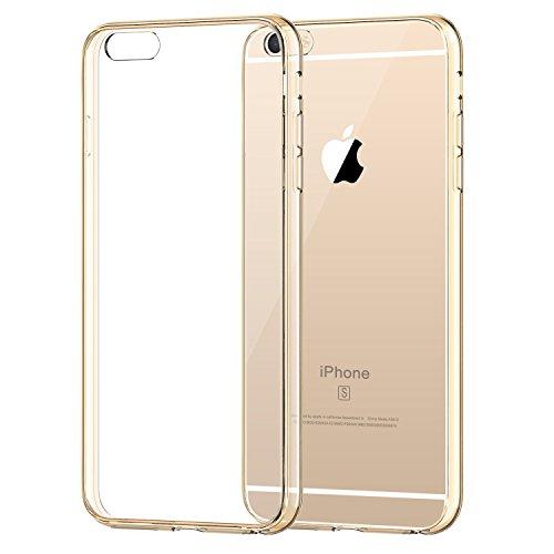 iPhone 6s Plus Hülle, JETech Apple iPhone 6 Plus / 6s Plus 5.5 Hülle Tasche Schutzhülle Case Cover Bumper und Anti-Scratch Löschen Back für iPhone 6s Plus iPhone 6 Plus 5.5 (Roségold) - 3204 Gold