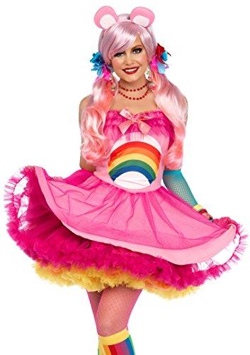 Celina Women's 2 Pc. Cheer Bear Petticoat Dress Set Medium/Large Pink