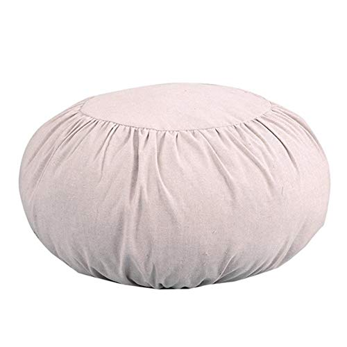 Winnerruby Round Thickening Seat Pads Cotton Linen Yoga Meditation Cushion