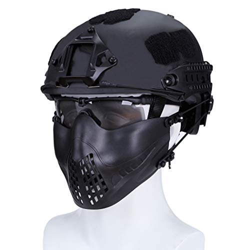 haoYK Casco de Deporte Multiusos Protector táctico Casco Airsoft Paintball Tipo Fast...